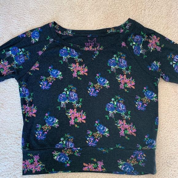 Garage Floral Scoop Neck Sweater